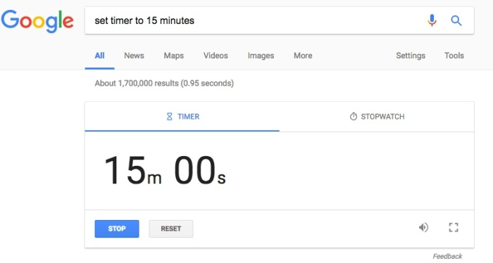 set-timer-to-15-minutes-google