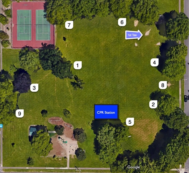 Cloverland Frisbee Golf Course Map