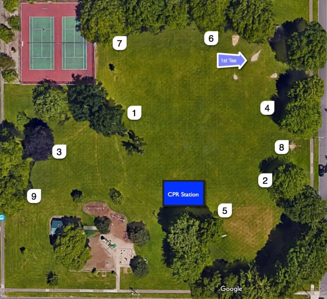 Cloverland Frisbee Golf Course Map