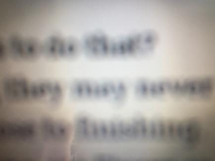 blurry text