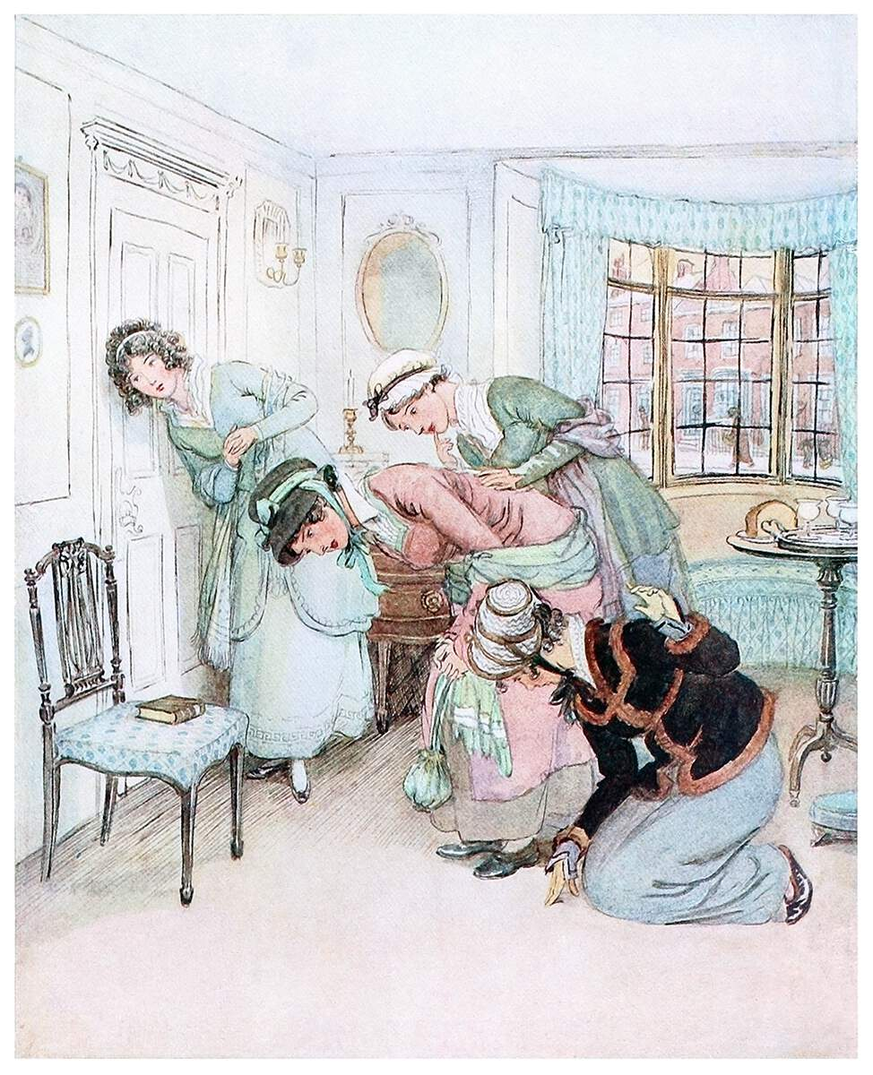 eavesdropping-multiple women-door-1200