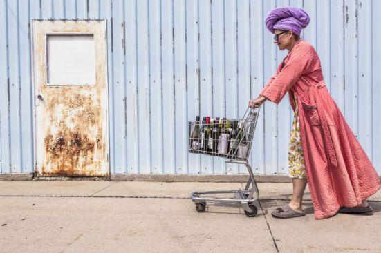 gratisography lows of writing lady bathrobe wine bottles