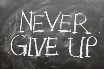 chalkboard never give up