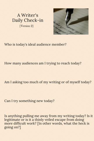 A Writer's Daily Check-in version 2