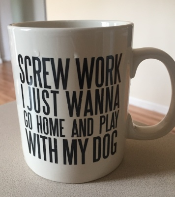 screw work coffee mug