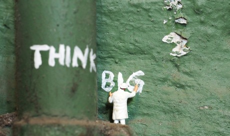 think big painted on wall