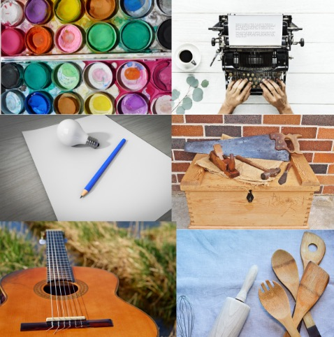 creative tools collage