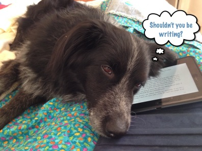 Buddy and Kindle speech bubble