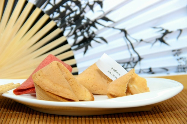 fortune cookies on a dish