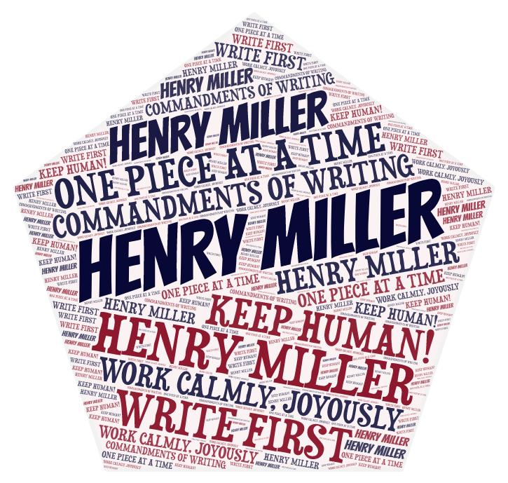 HENRY MILLER Word Cloud