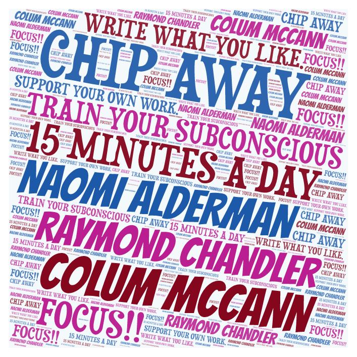 ALDERMAN McCANN CHANDLER WRITERS WORD CLOUD