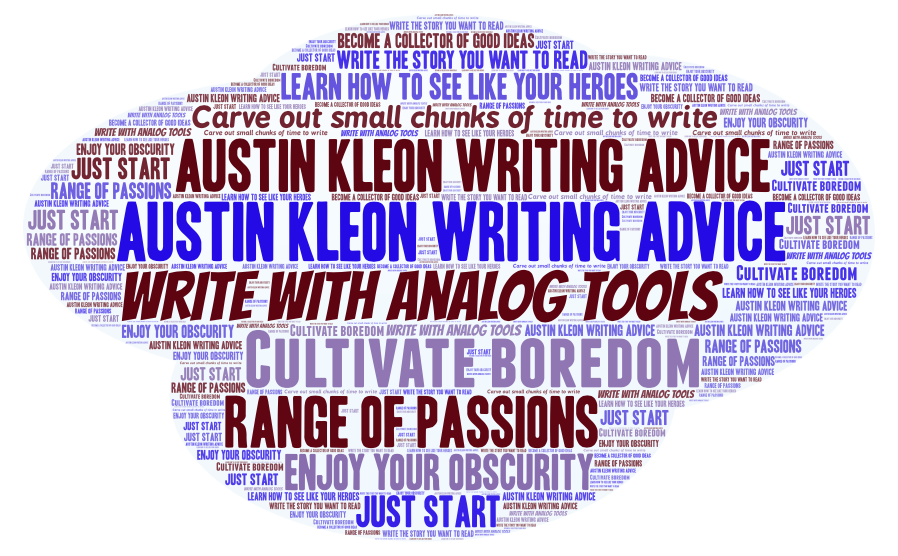 writing advice word cloud